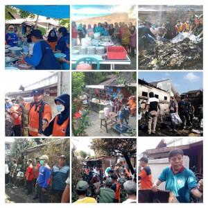 Kerja Bakti Pembersihan Lokasi Kebakaran RT 55 RW 16 Wujud Semangat Segoro Amarto