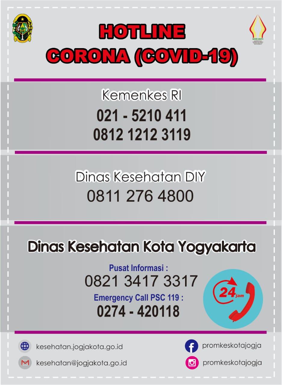Hotline Corona Covid-19 Kota Yogyakarta
