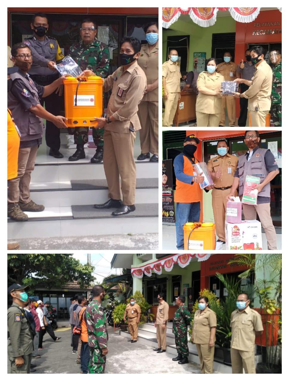 Penyerahan Bantuan Alat Semprot dan APD dari BPBD Kota Yogyakarta bagi Kelurahan Pringgokusuman