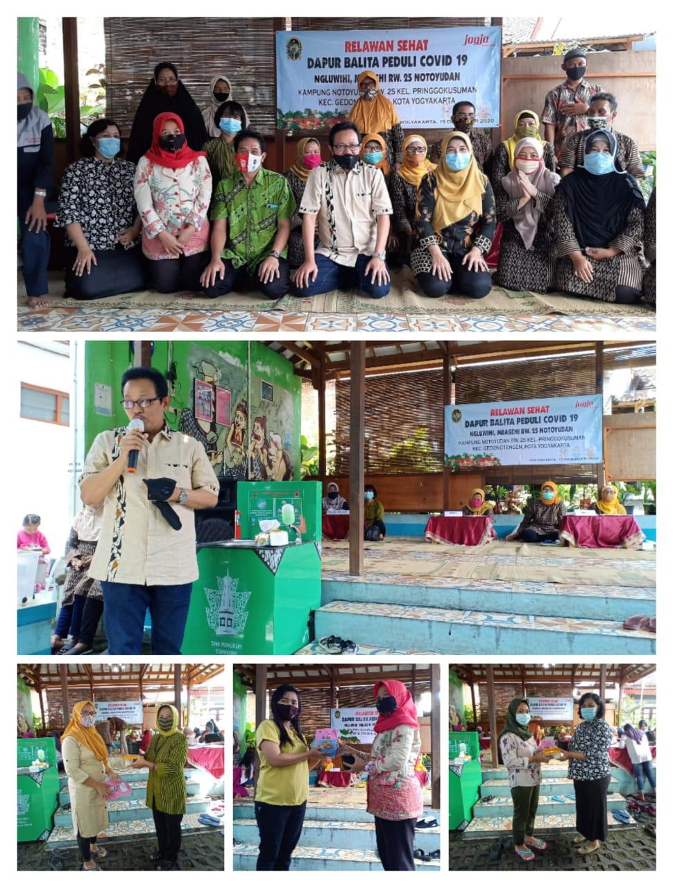 Launching Relawan Sehat dan Dapur Balita Ngluwihi Mbagehi RW 25 Kampung Notoyudan
