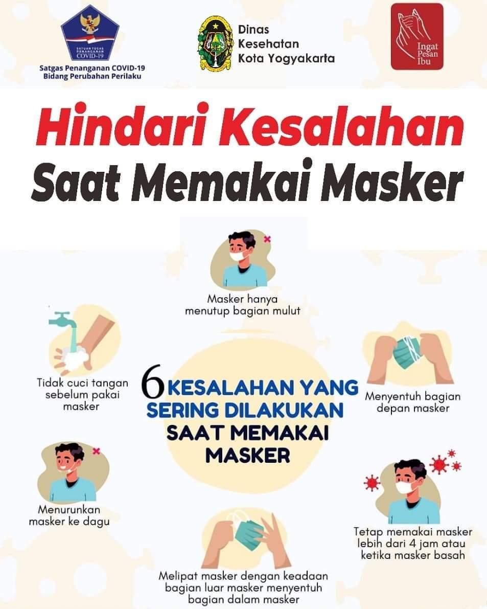 Hindari Kesalahan Memakai Masker