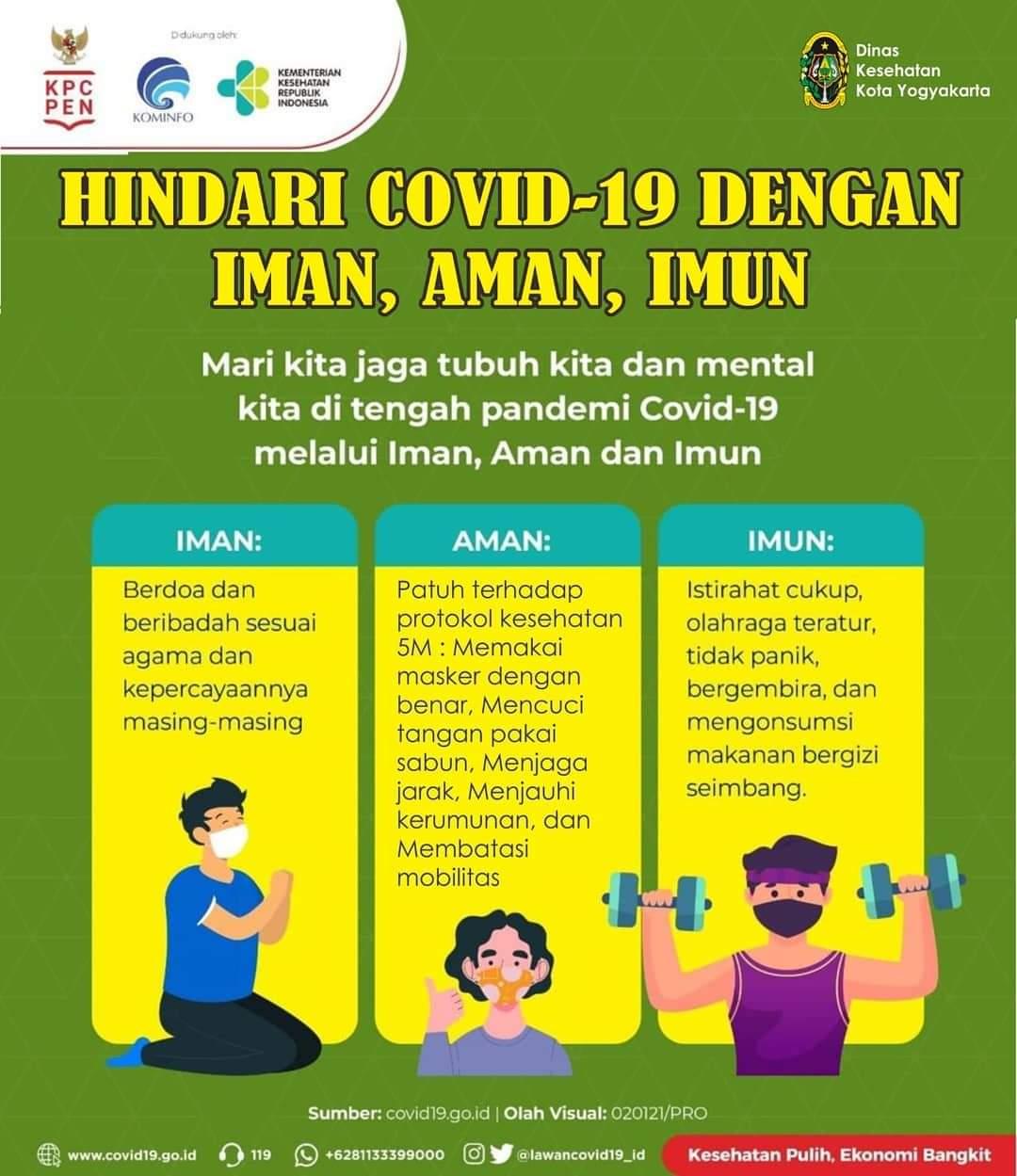 Hindari Covid-19 dengan Iman Aman dan Imun