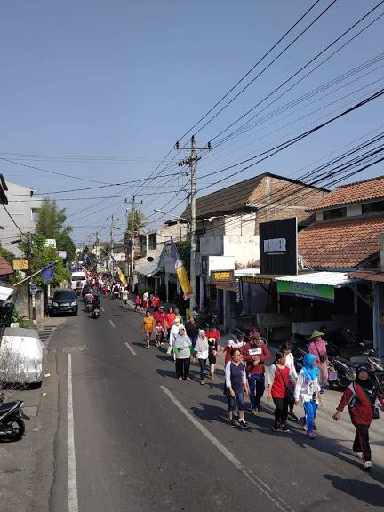 Jalan Sehat  dan Senam Bersama dalam Puncak Peringatan Haornas Kel. Pringgokusuman 220919